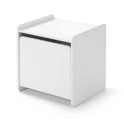Chevet 1 porte en pin blanc - KIDLY