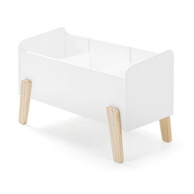 Coffre à jouets 80x39x48 cm en pin blanc - KIDLY