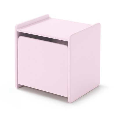 Chevet 1 porte en pin rose - KIDLY