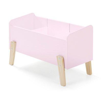 Coffre à jouets 80x39x48 cm en pin rose - KIDLY