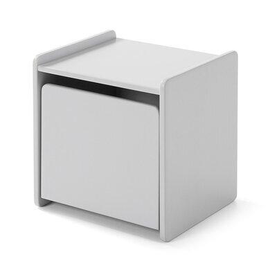 Chevet 1 porte en pin gris - KIDLY