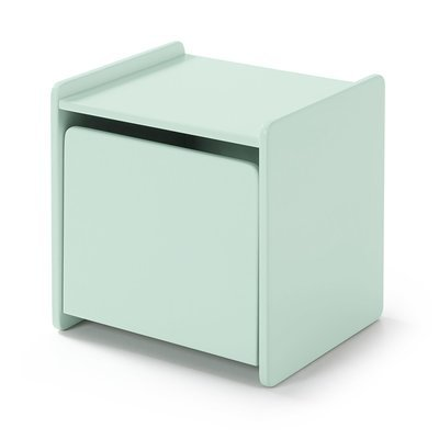 Chevet 1 porte en pin vert-menthe - KIDLY