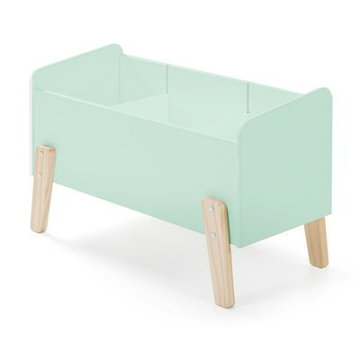 Coffre à jouets 80x39x48 cm en pin vert-menthe - KIDLY
