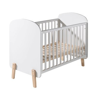 Lit bébé 60x120 cm en pin blanc - KIDLY