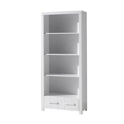 Bibliothèque 4 niveaux et 1 tiroir en pin blanc - VICKY