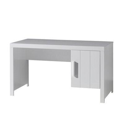 Bureau 1 porte 137x72x75,5 cm en pin blanc - VICKY