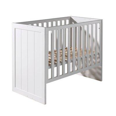 Lit bébé 60x120 cm en pin blanc - VICKY