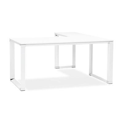 Bureau d'angle 170x160x74 cm blanc - WARNY