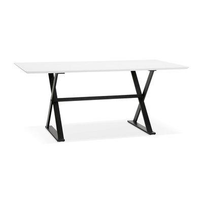 Bureau design 180x90x76 cm avec plateau blanc - MAIDY
