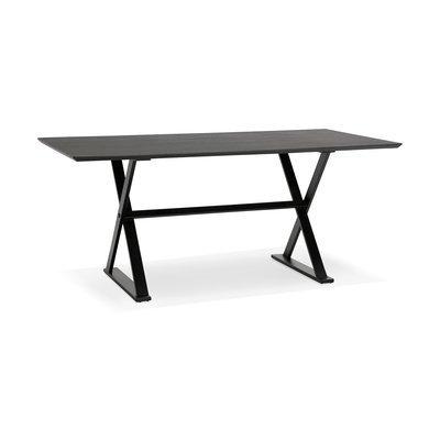 Bureau design 180x90x76 cm avec plateau noir - MAIDY