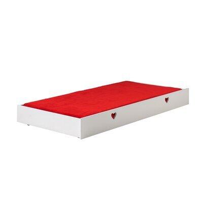 Tiroir pour lit 90x200 cm en pin blanc - AMORENA