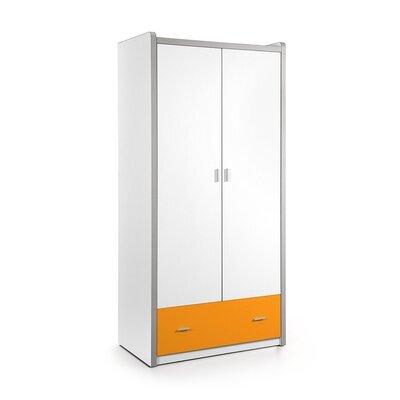 Armoire 2 portes et 1 tiroir 96,5x60x202 cm orange - ASSIA