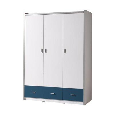 Armoire 3 portes 140,5x60x202 cm bleu - ASSIA