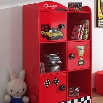 Bibliothèque pompier 3 portes 76x42x133,5 cm rouge - FIRE