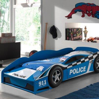 Lit voiture de police 70x140 cm bleu - CARINO