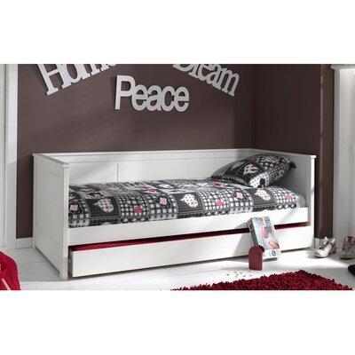 Lit banquette 90x200 cm avec tiroir blanc - PINO