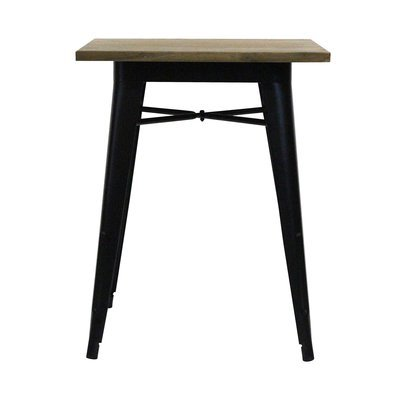 Table carrée 60 cm en bois et métal - ARTY