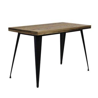 Table de repas 120 cm en bois et métal - ARTY