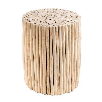 Table d'appoint ronde 34 cm en teck naturel