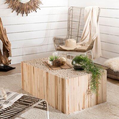 Table basse 110 cm en branches - teck