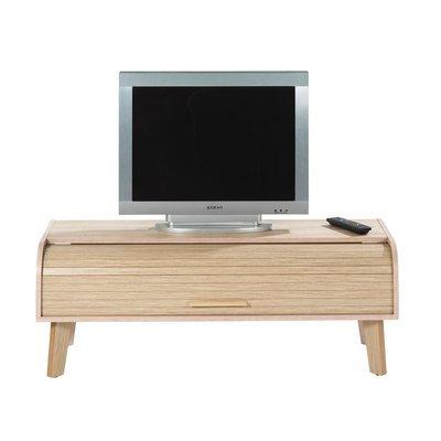 Meuble TV 114 cm chêne et rideau chêne