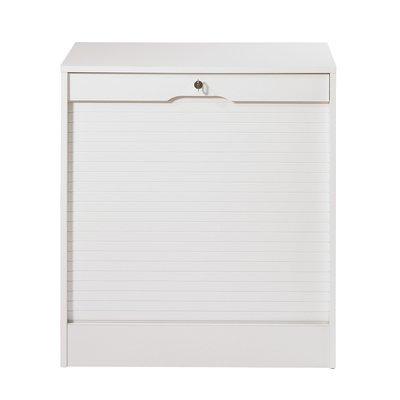 Classeur à rideau hauteur 76 cm blanc