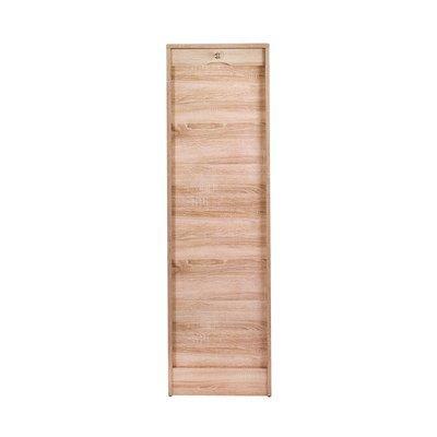 Classeur simple haut 140 cm chêne