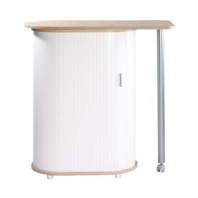 Table plateau pivotant chêne/blanc - LUNCH