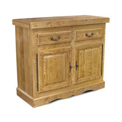 Bahut 2 portes 2 tiroirs chêne clair