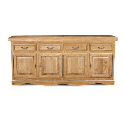 Bahut 4 portes 4 tiroirs chêne clair