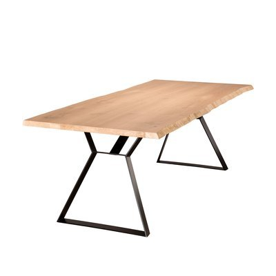 Table à manger 230 cm en chêne et pieds métal - PHRAE