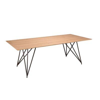 Table à manger 220 cm en chêne et pieds croisés en métal - PHRAE