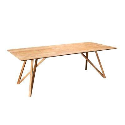 Table à manger 220 cm en teck recyclé et pieds croisés - PHRAE
