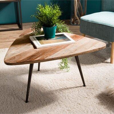 Table basse 75,5x70x40 cm en teck recyclé et métal - APPOLINE