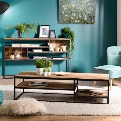 Table basse 150 cm en teck recyclé et métal - APPOLINE