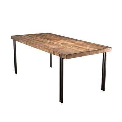 Table à manger 200 cm en teck recyclé et métal - APPOLINE
