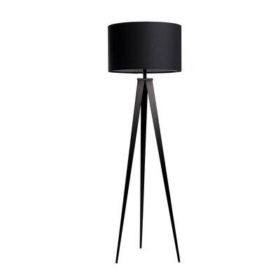 Lampadaire 50x50x157 cm en tissu et pieds noirs - TRIPOD