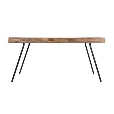 Table à manger 160 cm en teck recyclé et métal - ALEN