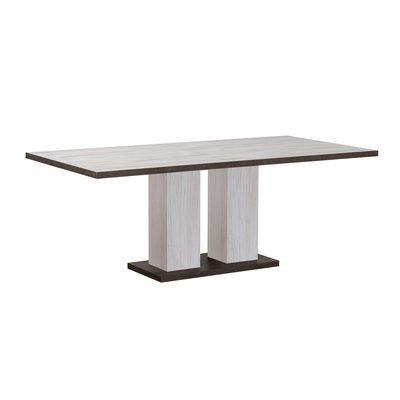 Table à manger 180/240x90x75 cm gris et béton - SENTIA