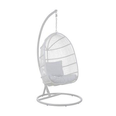 Fauteuil suspendue 119x105x193 cm en métal blanc - KYOTO