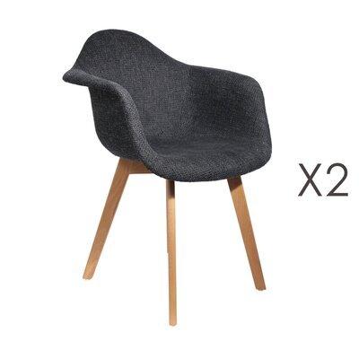 Lot de 2 fauteuils en maille noire - IDRIS