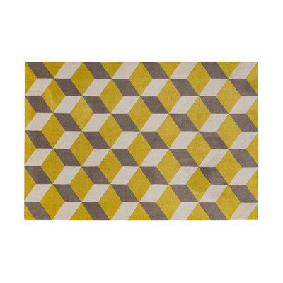 Tapis 200x300 cm en polyester jaune et gris - RENZO