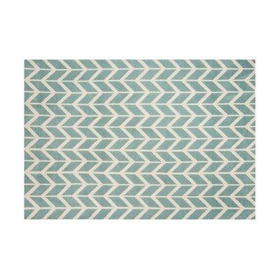 Tapis 120x170 cm en polyester bleu clair - RENZO