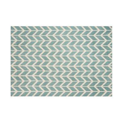 Tapis 160x230 cm en polyester bleu clair - RENZO