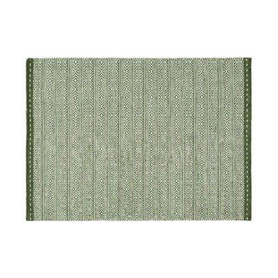 Tapis 120x170 cm en tissu vert - OUZIA