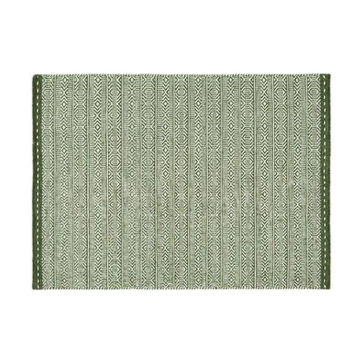 Tapis 160x230 cm en tissu vert - OUZIA