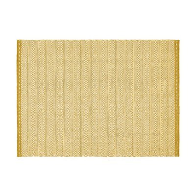 Tapis 160x230 cm en tissu ocre - OUZIA