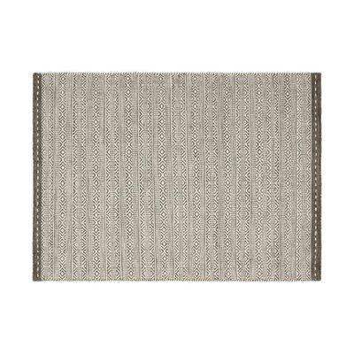 Tapis 120x170 cm en tissu taupe - OUZIA