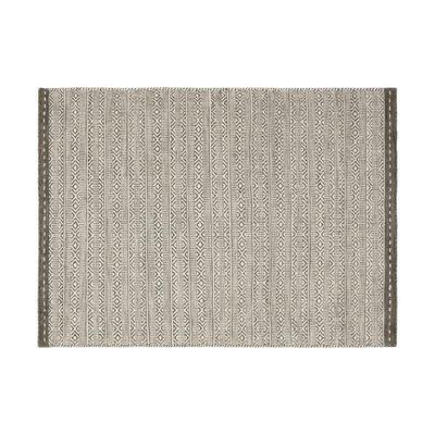 Tapis 160x230 cm en tissu taupe - OUZIA