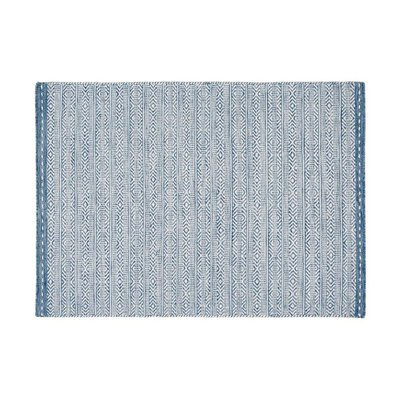 Tapis 120x170 cm en tissu bleu - OUZIA